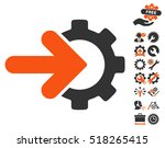 gear integration pictograph... | Shutterstock .eps vector #518265415
