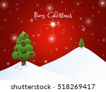 christmas landscape background... | Shutterstock . vector #518269417