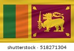sri lanka flag in the wind.... | Shutterstock .eps vector #518271304