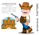 sheriff. a man in 19th century... | Shutterstock .eps vector #518275885