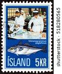 iceland   circa 1971  a stamp... | Shutterstock . vector #518280565