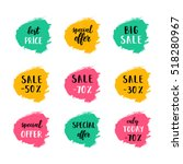 a set of sale cards vector... | Shutterstock .eps vector #518280967