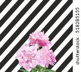 Bouquet Of Pink Peonies On The...