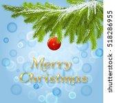Christmas Fir Tree. Border...
