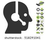 operator pictograph with bonus... | Shutterstock .eps vector #518291041