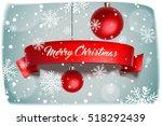 merry christmas. banner on... | Shutterstock .eps vector #518292439