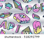 bright seamless pattern with... | Shutterstock . vector #518292799