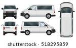 minivan vector template on... | Shutterstock .eps vector #518295859