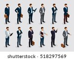 business people isometric set... | Shutterstock .eps vector #518297569