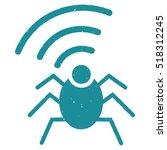 radio spy bug rubber seal stamp ... | Shutterstock .eps vector #518312245
