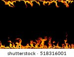 Frame Of Fire Flames On A Black