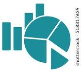 statistics vector icon. flat... | Shutterstock .eps vector #518317639