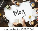 blog content connection global... | Shutterstock . vector #518321665