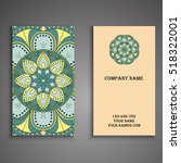 vector business card. floral... | Shutterstock .eps vector #518322001