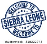 welcome to sierra leone. stamp. | Shutterstock .eps vector #518322745
