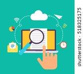 infographics   seo optimization....   Shutterstock .eps vector #518325175