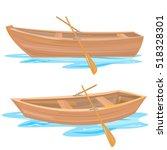 wood boat | Shutterstock .eps vector #518328301