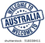 welcome to australia. stamp. | Shutterstock .eps vector #518338411