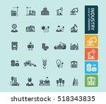 industry icon set vector   Shutterstock .eps vector #518343835