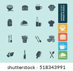 food and drink icon set vector | Shutterstock .eps vector #518343991