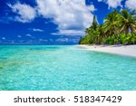 amazing beach with white sand... | Shutterstock . vector #518347429