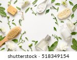 spa floral background  flat lay ... | Shutterstock . vector #518349154