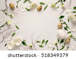 easter floral background ... | Shutterstock . vector #518349379
