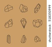 rock stone age crystal mineral... | Shutterstock .eps vector #518350999