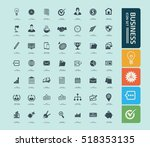 business and office icon set... | Shutterstock .eps vector #518353135