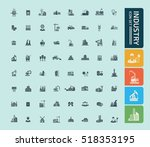 industry icon set vector | Shutterstock .eps vector #518353195