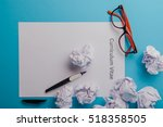 curriculum vitae written on an... | Shutterstock . vector #518358505