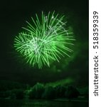 Beautiful Green Fireworks At...