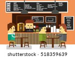 the atmosphere of the coffee... | Shutterstock .eps vector #518359639