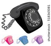 retro dial phone vector... | Shutterstock .eps vector #518365081