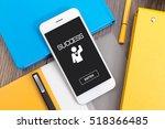success icon concept on screen | Shutterstock . vector #518366485