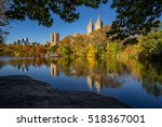 fall in central park at the... | Shutterstock . vector #518367001