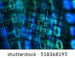 program code on a monitor  | Shutterstock . vector #518368195