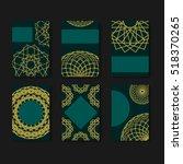 set of geometric brochures and...   Shutterstock .eps vector #518370265