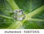 wedding rings vintage picture... | Shutterstock . vector #518372431
