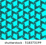 abstract geometric seamless... | Shutterstock .eps vector #518373199