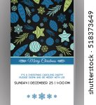 invitation to a christmas party.... | Shutterstock .eps vector #518373649