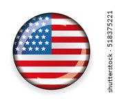 Usa Flag Badge Vector
