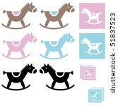 Set Of Baby Horse Toy Blue And...