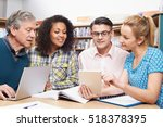 group of mature students... | Shutterstock . vector #518378395
