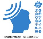 radio reception mind icon with... | Shutterstock .eps vector #518385817
