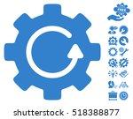 gear rotation icon with bonus... | Shutterstock .eps vector #518388877