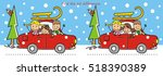 car and sledge  game  find ten... | Shutterstock .eps vector #518390389