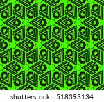 abstract geometric seamless... | Shutterstock .eps vector #518393134