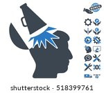 open mind megaphone pictograph...