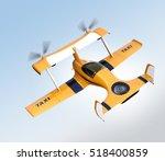 yellow autonomous flying drone... | Shutterstock . vector #518400859
